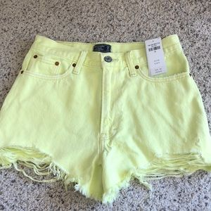 High waisted Abercrombie and Fitch denim shorts!